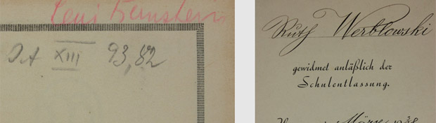 Handwritten inscriptions and personal details have enabled researchers to identify the owners of some of the books discovered at the SuUB.